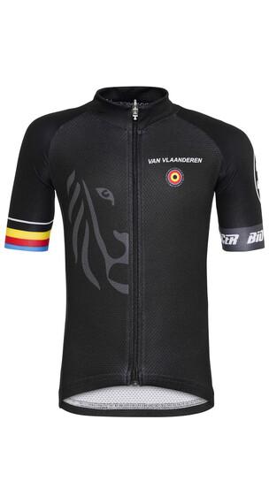Bioracer Van Vlaanderen Pro Race fietsshirt Kinderen zwart